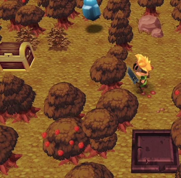 ...出来依旧用炸弹同样步骤!   玩家提问:神圣森林里面有个宝箱...