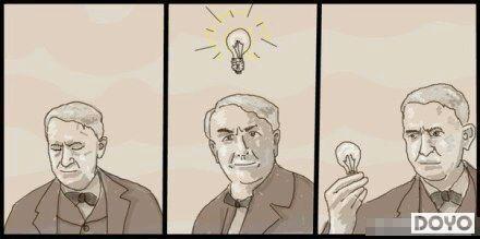 爱迪生是怎么发明电灯的-内涵囧图邪恶来袭Vol.26 本期解锁新姿势