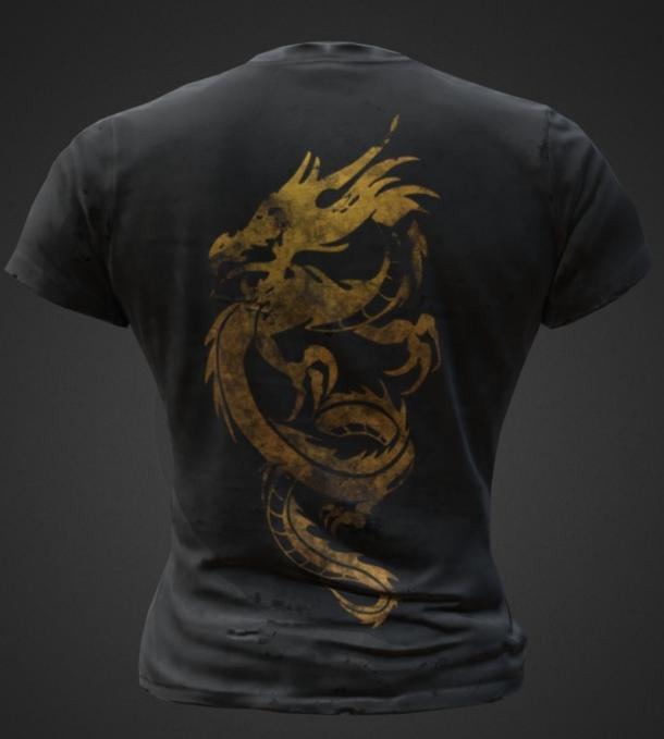 《绝地求生》国服限定T恤曝光 青花瓷脸谱中国风