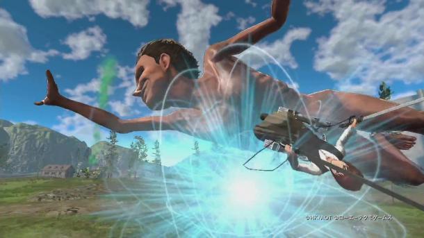 《进击的巨人2》游戏演示 康尼与萨莎斩击巨人