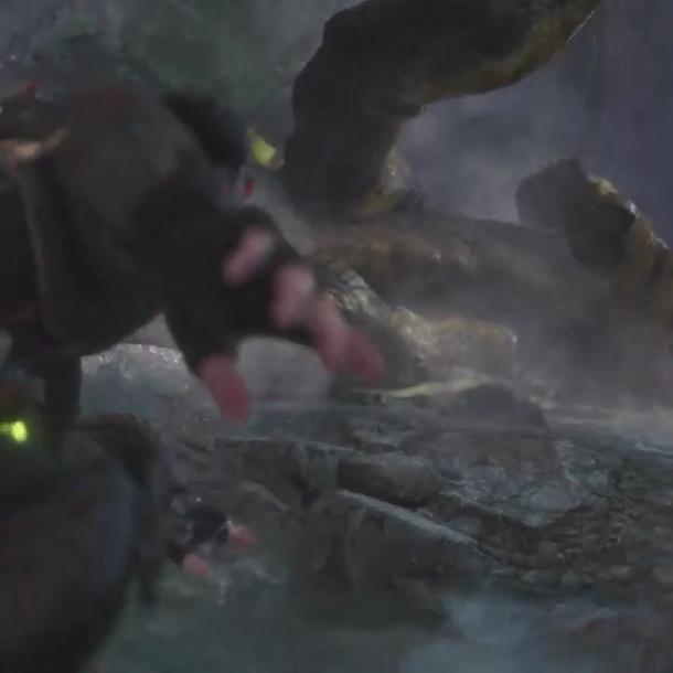 《怪物猎人:世界》官方超酷动作镜头 堪比大片