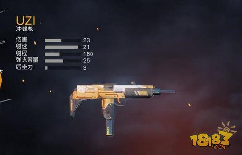 荒野行动50V50模式用什么枪好 神器UZI居然垫底了