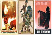 游戏角色乱入二战海报 国外画师精彩作品赏析