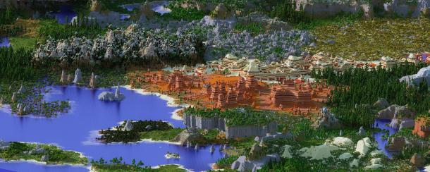 玩家花一年时间打造《我的世界》地形 更真实自然!