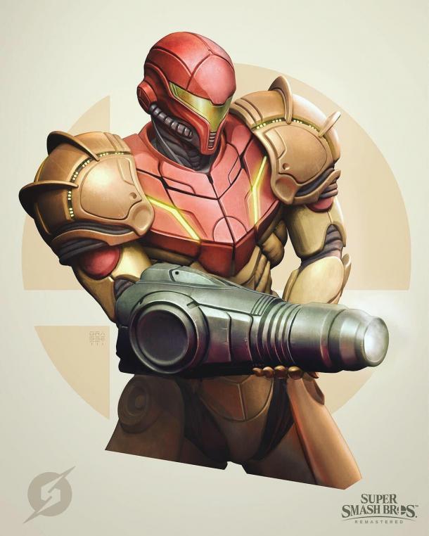 真酷 《战神4》美术师绘制《任天堂明星大乱斗》角色