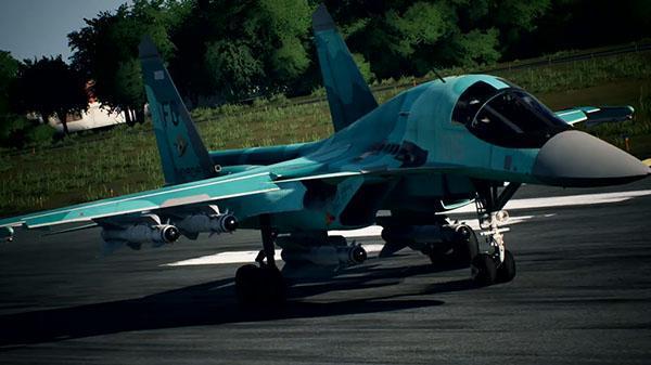 《皇牌空战7:未知空域》新飞机公布 苏34霸气登场