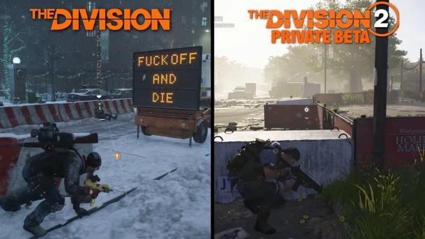 PC版画面对比:《全境封锁2》vs《全境封锁》