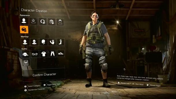 《全境封锁2》角色创建视频公布 肤色、纹身都可自定义