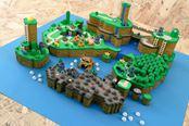 大神打造《超级马里奥世界》3D实物地图