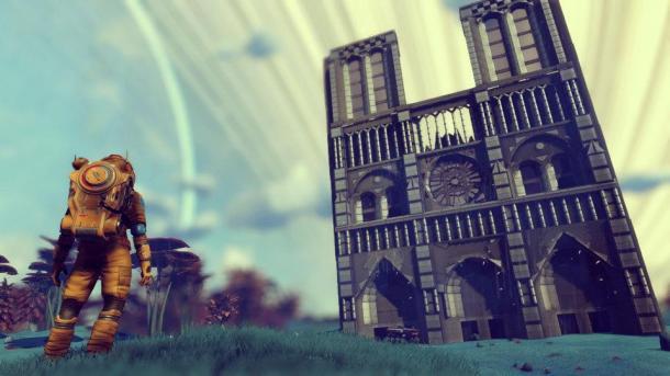 《无人深空》玩家在游戏中建造巴黎圣母院 好评不断