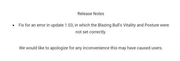 《只狼》1.04更新补丁发布 修复火牛boss战问题