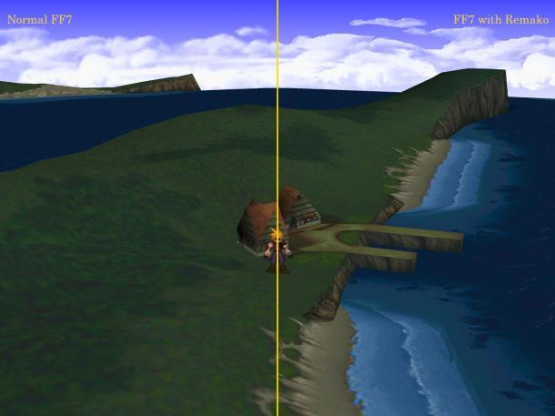 《最終幻想7》高清材質包1.0版 馬賽克畫面變高清