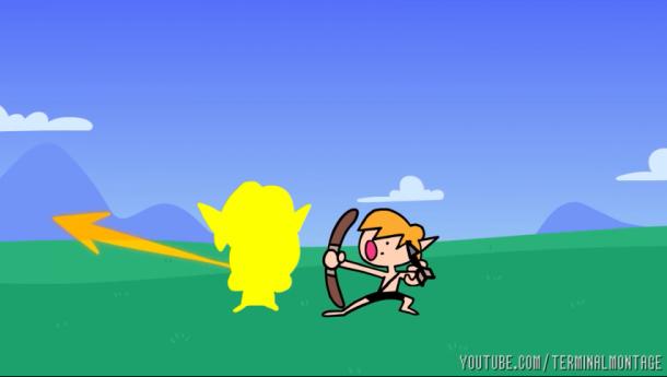 《塞尔达传说:旷野之息》速通魔性动画 精髓就是飞呀飞