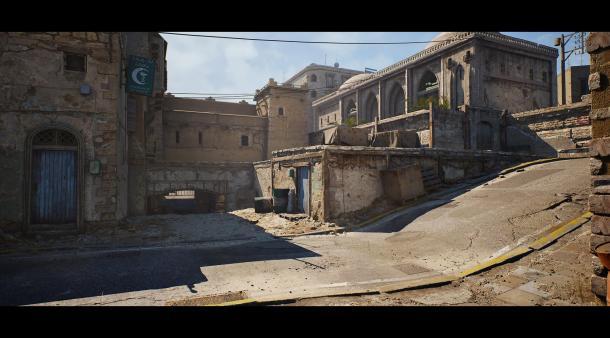 玩家利用虛幻4引擎自制《反恐精英》De_Dust 2地圖