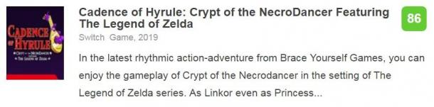 """塞尔达版""""节奏地牢"""" 《节奏海拉鲁》IGN 8.8分"""
