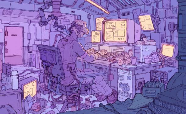 賽博朋克風格藝術圖欣賞 畫師以驚人細節刻畫黑暗世界