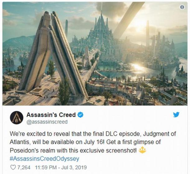 """《刺客信條:奧德賽》DLC""""亞特蘭蒂斯的命運""""最終章本月推出"""