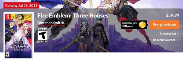 《火焰紋章:風花雪月》eShop開啟預售 季票內容公布