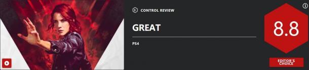 《控制》媒体评分出炉 IGN 8.8分、GameSpot 8分