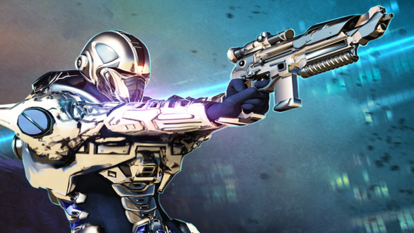 现代前线士兵与机器人