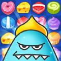 匹配3益智游戏:甜蜜怪兽