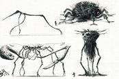 《塞尔达:荒野之息》守护者早期设计图 非常黑暗