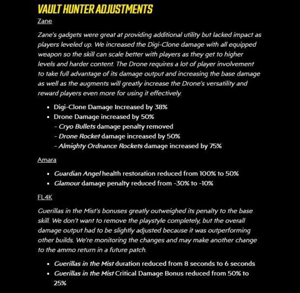《無主之地3》更新增強贊恩技能傷害