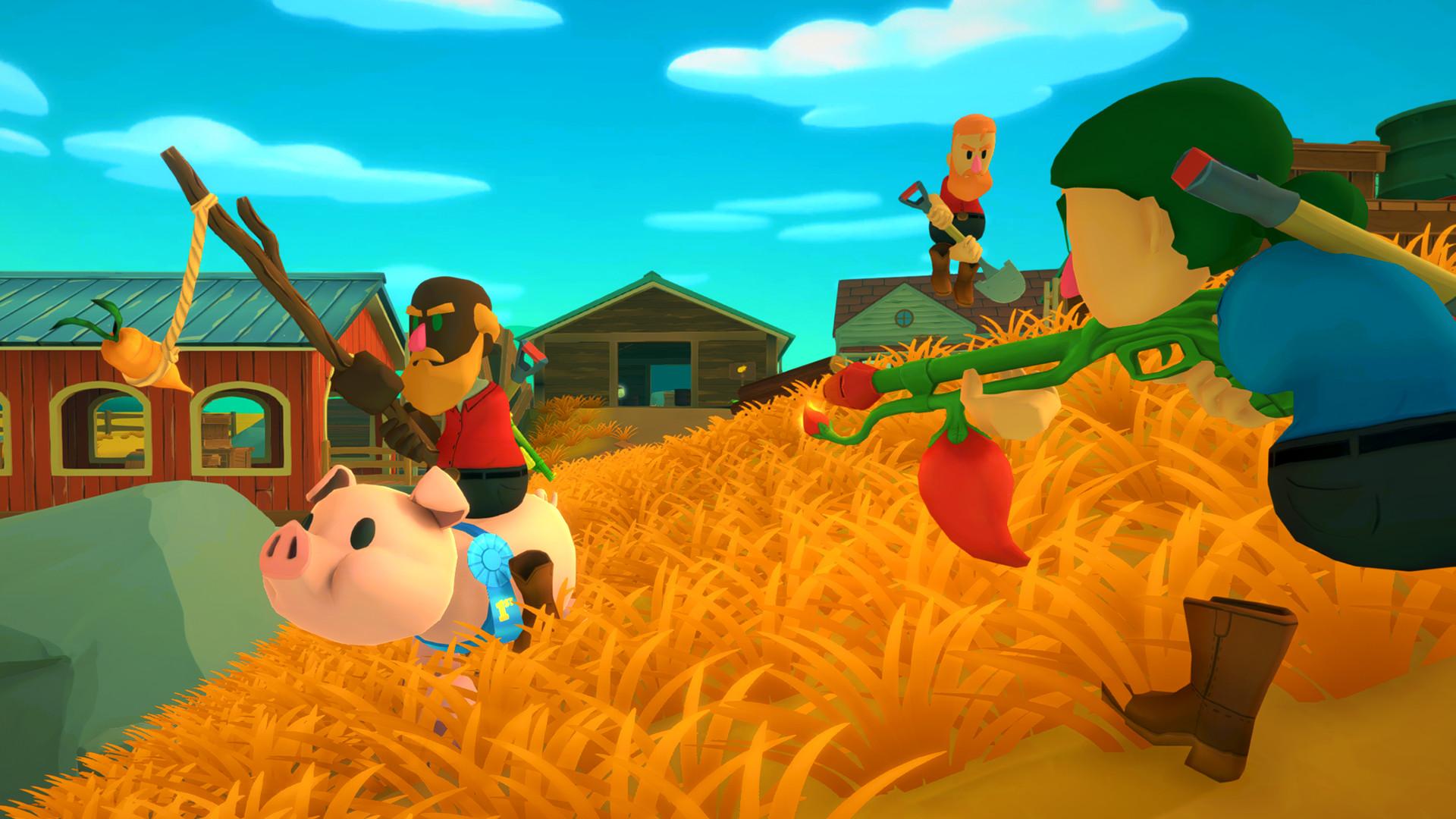 猎枪农民图片