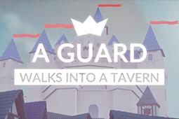 一名衛兵走進了一間酒館