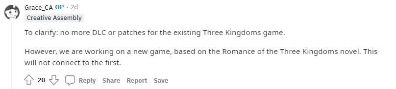 《全面战争:三国》宣布停更遭差评轰炸 因在开发新作 游戏资讯 第2张