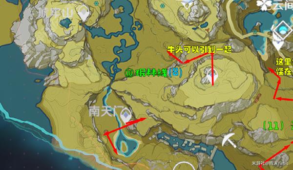 原神1.6锄地路线汇总 最快锄大地路线分享 游戏攻略 第8张