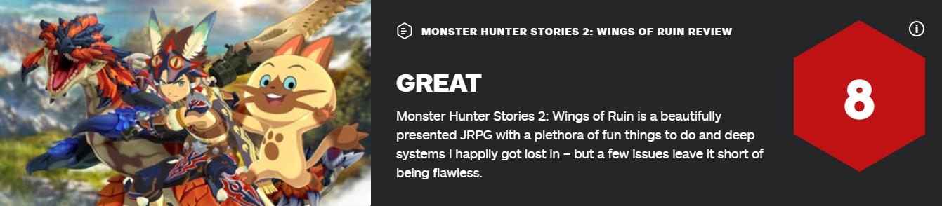 《怪物猎人物语 2:破灭之翼》即将发售 媒体评分解禁 游戏资讯 第1张