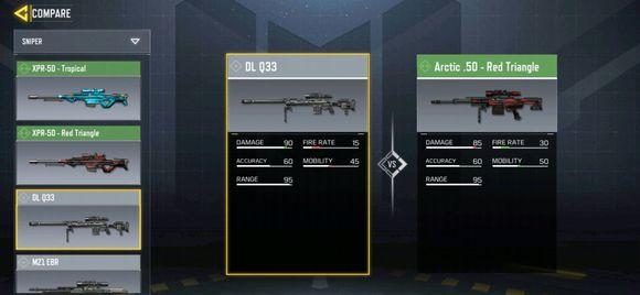 使命召唤手游Q33和arctic.50哪一个更好用