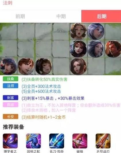 王者荣耀王者模拟战强势阵容推荐 法刺阵容玩法攻略