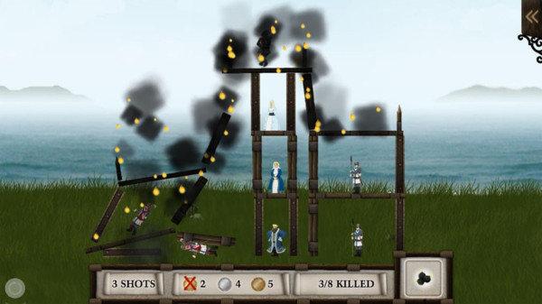 投石车粉碎城堡