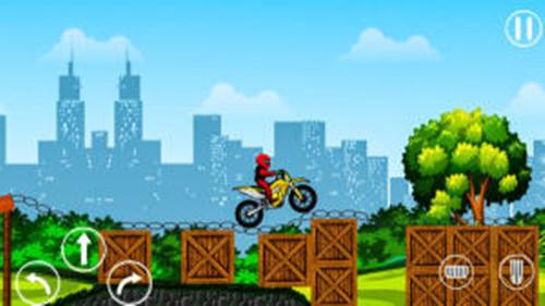 刺激摩托车比赛