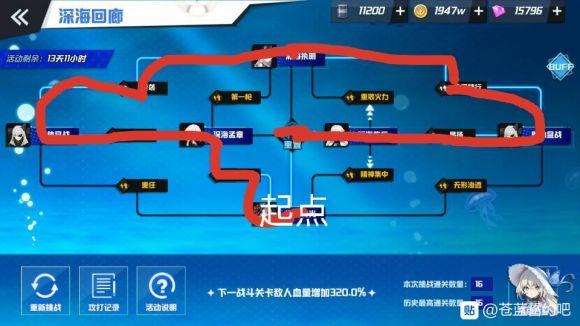 苍蓝誓约深海回廊活动攻略路线图