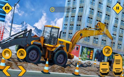 挖掘机和铲斗模