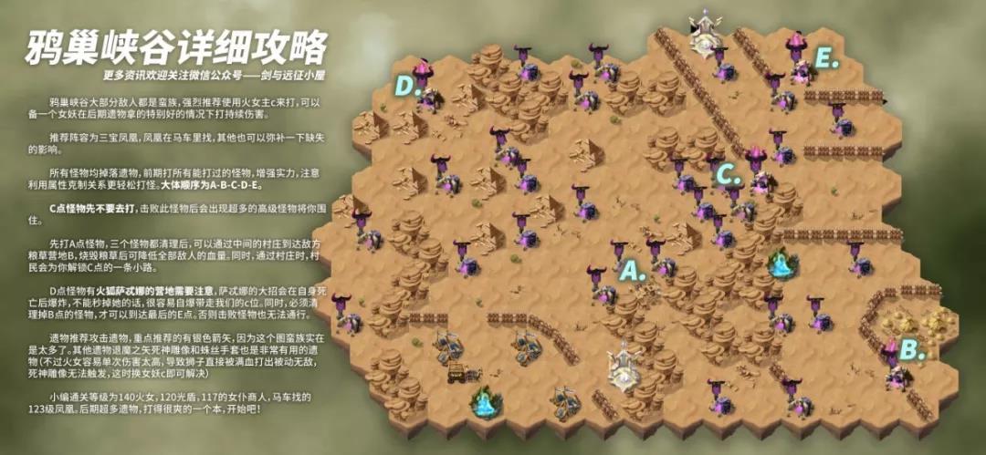 剑与远征鸦巢峡谷攻略大全 鸦巢峡谷地图路线说明