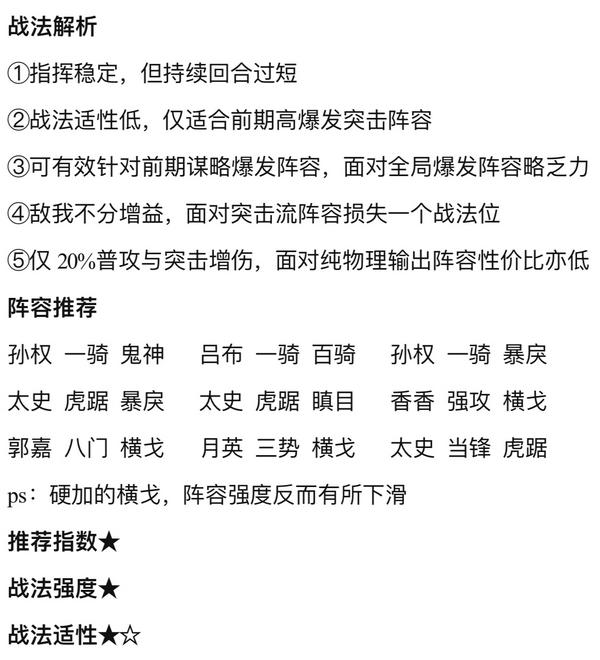 三国志战略版s3新战法横戈跃马详解