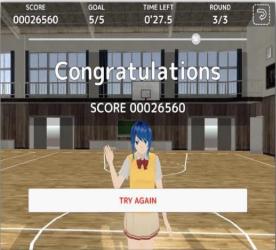 高校女孩篮球队游戏