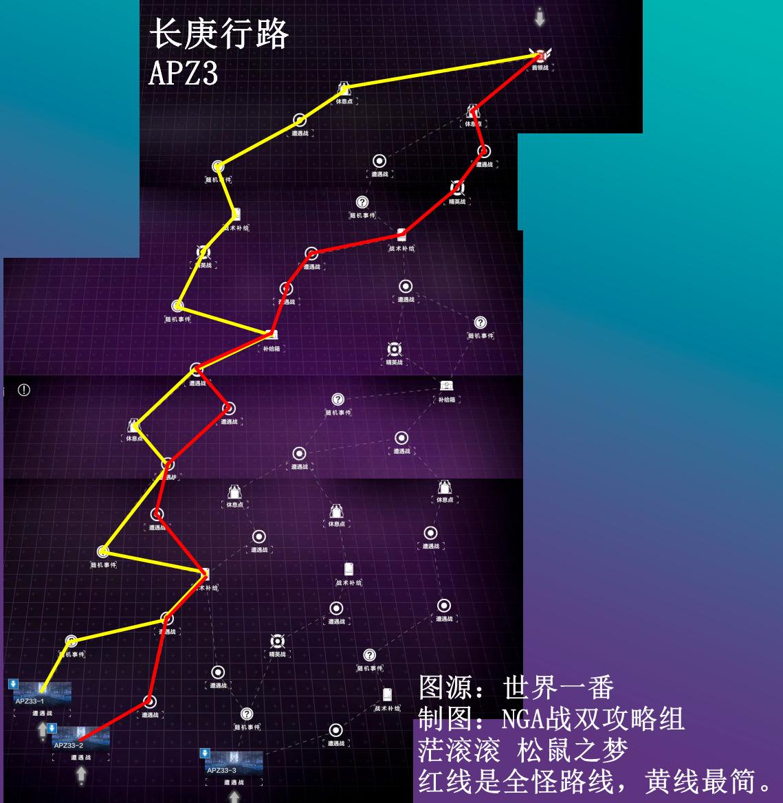 战双帕弥什长庚行路第三张图路线大全 第三张图路线怎么走