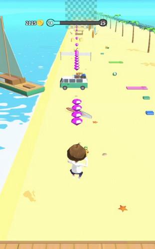 沙滩奔跑者