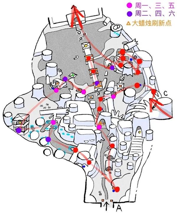 光遇雨林地图烛火路线是什么 雨林地图烛火路线一览