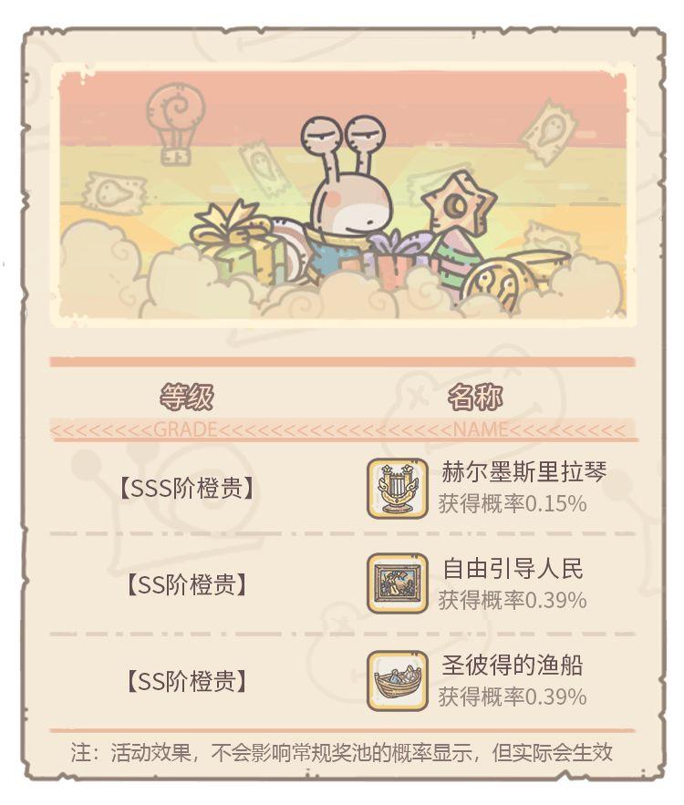 最强蜗牛贵重品收获祭橙贵一览 贵重品收获祭玩法介绍