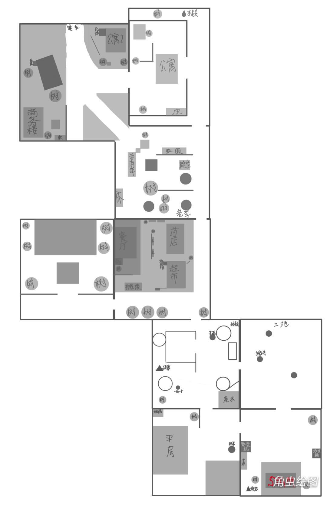 属性与生活3地图详解 地图平面图一览