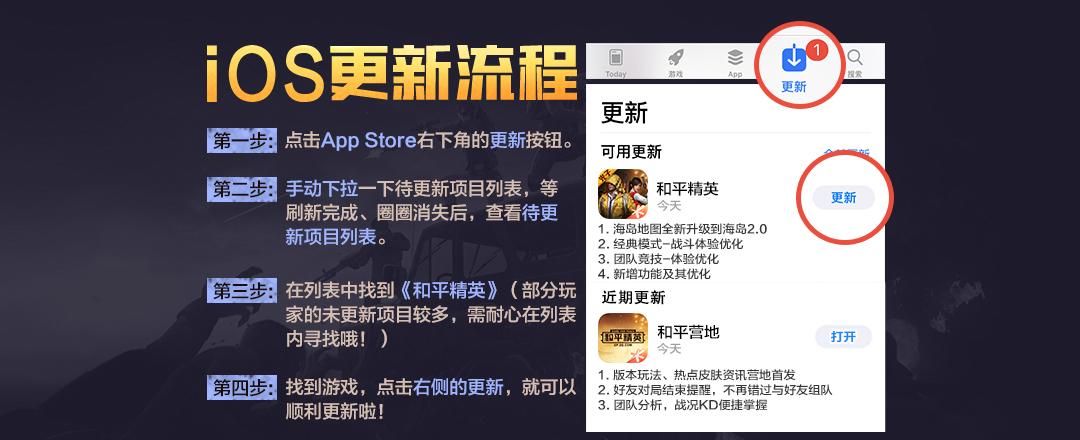 和平精英极限追猎版本iOS怎么更新?(图1)