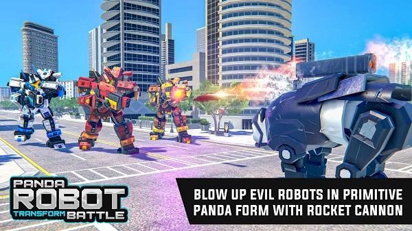 警察熊猫机器人