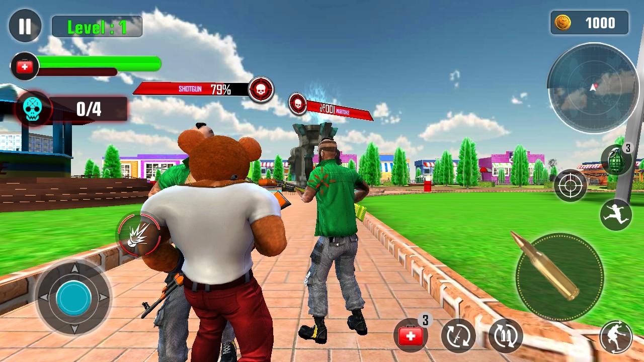 泰迪熊枪战
