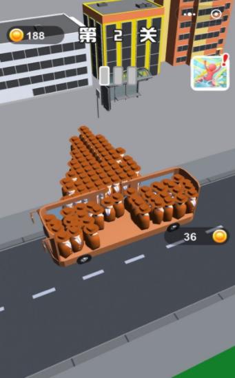满员拥挤公交车游戏